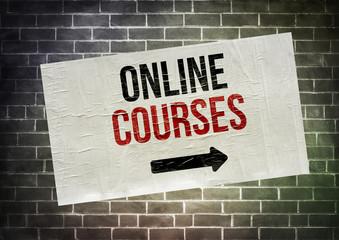 Online Courses - poster concept