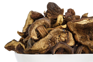 Wild and dried mushrooms