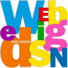 """""""WEB DESIGN"""" Letter Collage (graphics internet website webpage)"""