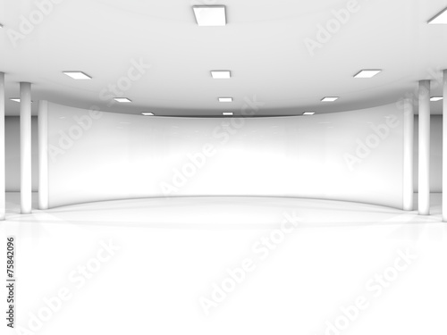 Foto op Canvas Wand white interior