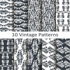 set of ten vintage patterns