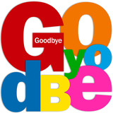 """""""GOODBYE"""" Letter Collage (farewell card good luck travel)"""