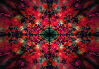 Red and black kaleidoscope pattern
