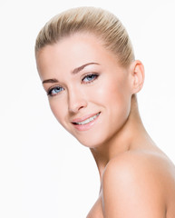 Beautiful woman with beauty smiling face