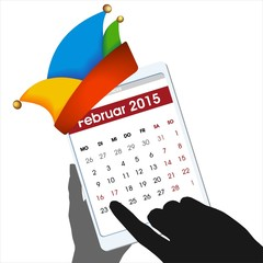 Rosenmontag Fastnacht Fachingsdienstag 16.02.2015 Kalender