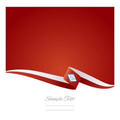 Arkansas ribbon flag vector