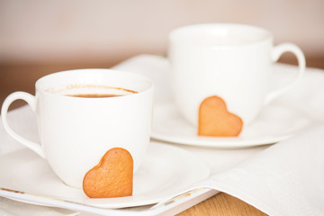 Romantic breakfast.