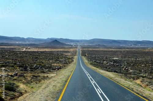 Tuinposter Algerije Desert road