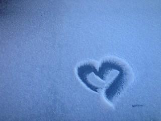 corazon nieve
