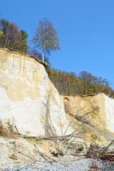 chalk rocks of Rugen island (Germany, Mecklenburg-Vorpommern)