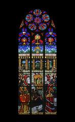 Eucharistic Congress, Stained glass in Votiv Kirche in Vienna