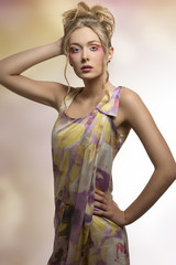 fashion woman with fresh colorful style