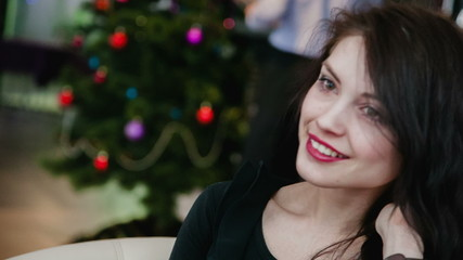 Girl smiling and talking