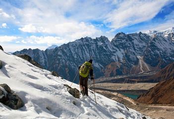 Larke pass, in the Nepal Himalaya