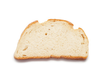 piece of bread isolated over white background