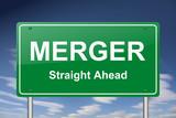 merger sign poster