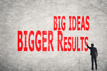 write words on wall, Big Ideas Bigger Results