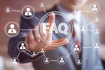 Business button FAQ connection web communication