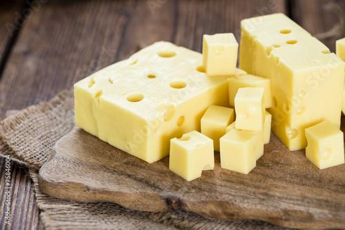 Papiers peints Produit laitier Portion of Cheese (close-up shot)