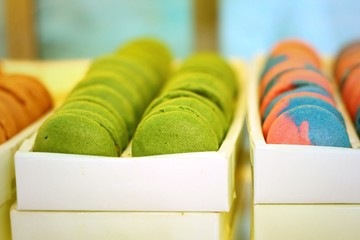 Delicious French macaroons - Delicious French pastries.