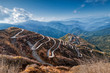 Leinwanddruck Bild - Curvy roads , Silk trading route between China and India