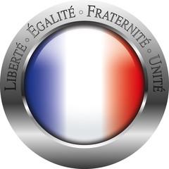 liberté égalité fraternité unité bouton drapeau franc