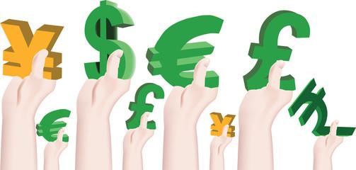sostenere l'economia le valute
