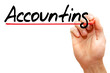 Hand writing Accounting with marker, business concept