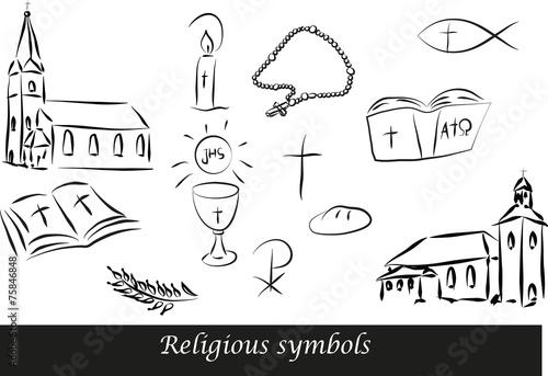 Zdjęcia na płótnie, fototapety, obrazy : Religious symbols1