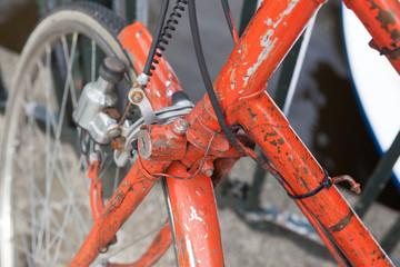altes Fahrrad im Detail