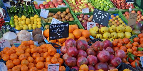 markt, obst, verkauf
