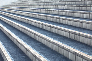 Outdoor stair concrete block texture and background