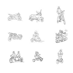 illustrations, vector, motorcycle