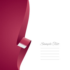 Qatar left side brochure cover vector