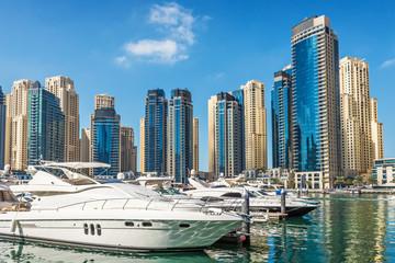 Yachts at Dubai Marina, United Arab Emirates, Middle East