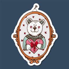 Teddy bear with heart present.