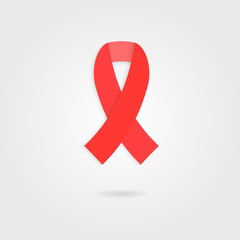 red ribbon like concept of 1 Dec world AIDS day
