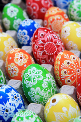 color easter eggs background