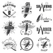 Second set of vintage barber shop emblems. - 75848674