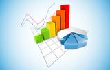 Fototapety grafico economia, istogrammi, statistiche