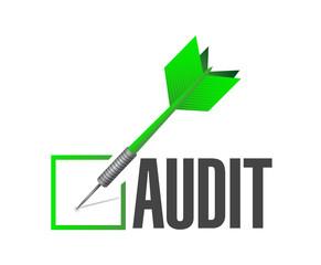 audit check dart illustration design