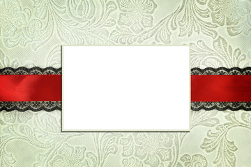 Decorative template with photo frame