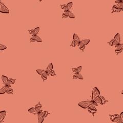Butterflies seamless pattern.