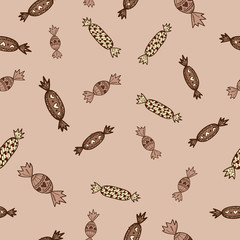 Candies sweets seamless pattern.