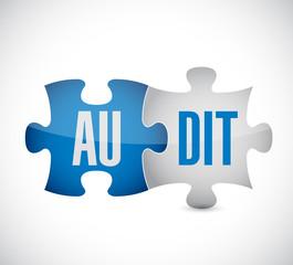 audit puzzle pieces illustration design