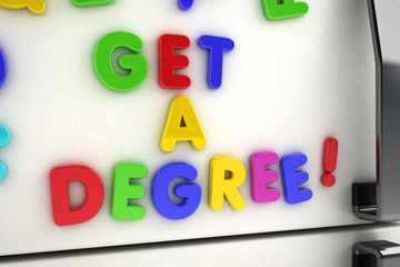 Get a degree magnets