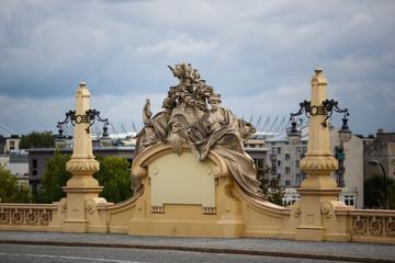 Sculpture on a bridge