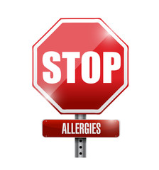 stop allergies sign illustration design