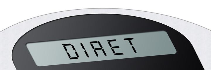 wsb10 WeighingScaleBanner - Waage - Diät DIAET - 3zu1 g2966