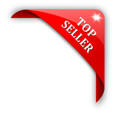Red corner with the sign top seller - vector svg